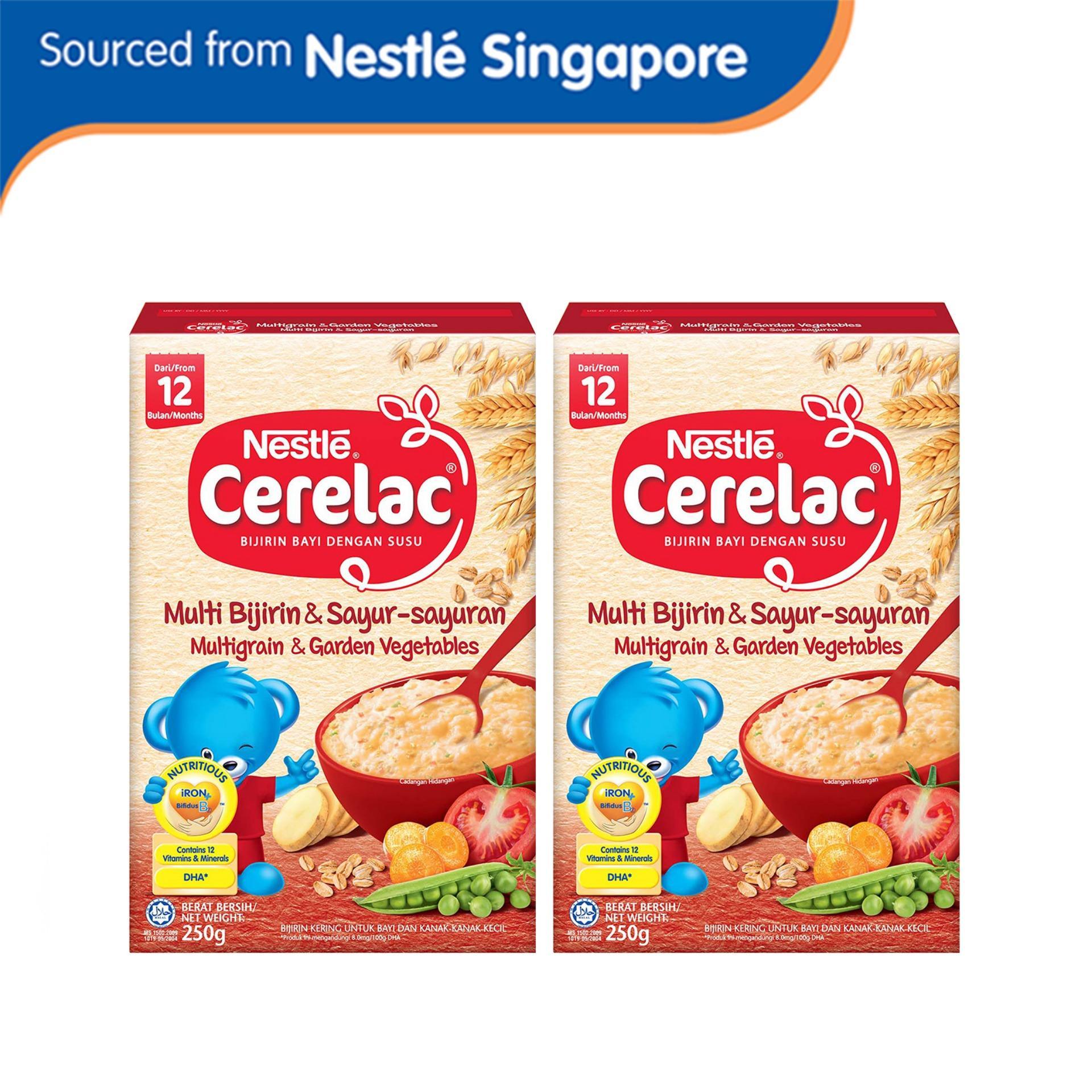 Nestlé® Cerelac® Multi Grain & Garden Vegetables 250g X 2 Pcs By Nestle Infant Nutrition.