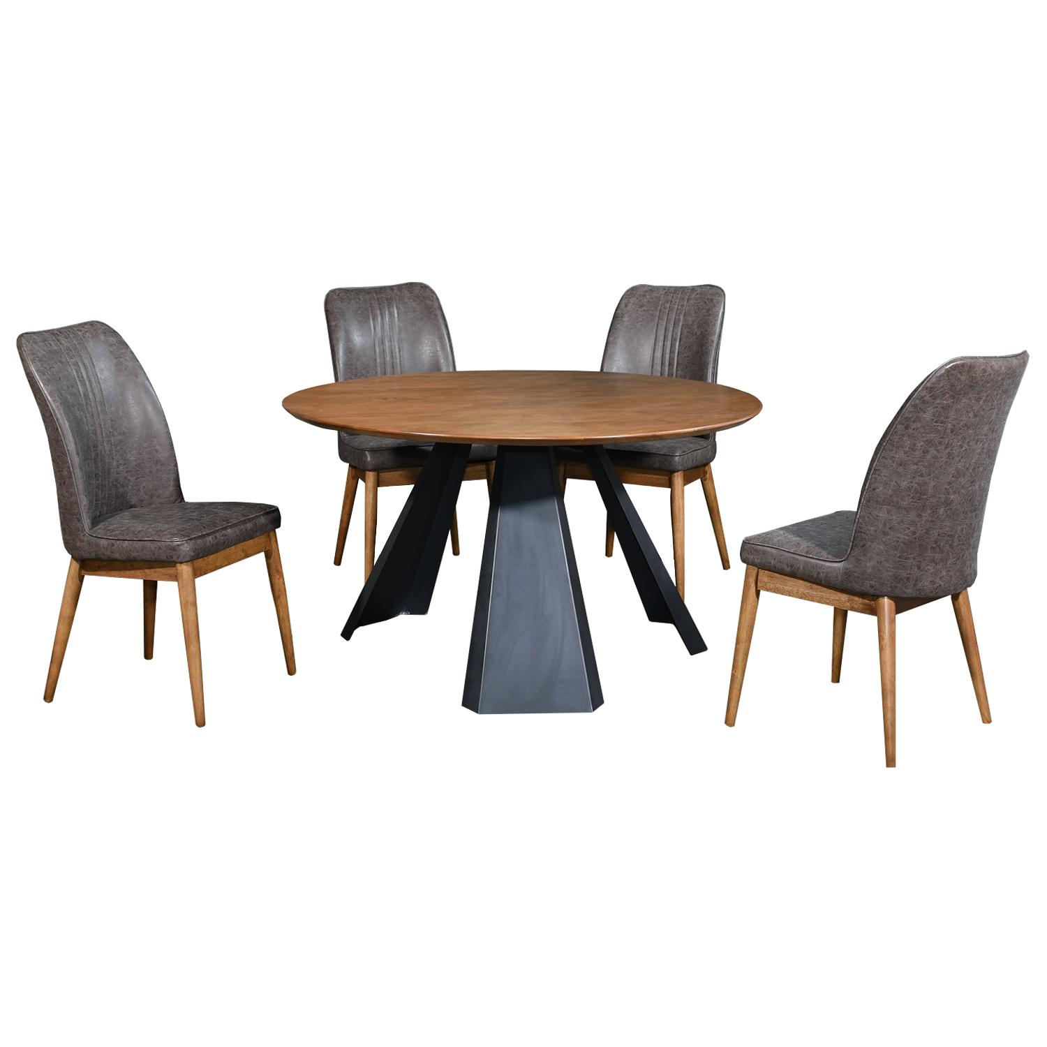 LIVING MALL_Fahim Dining Set 1+6_FREE DELIVERY