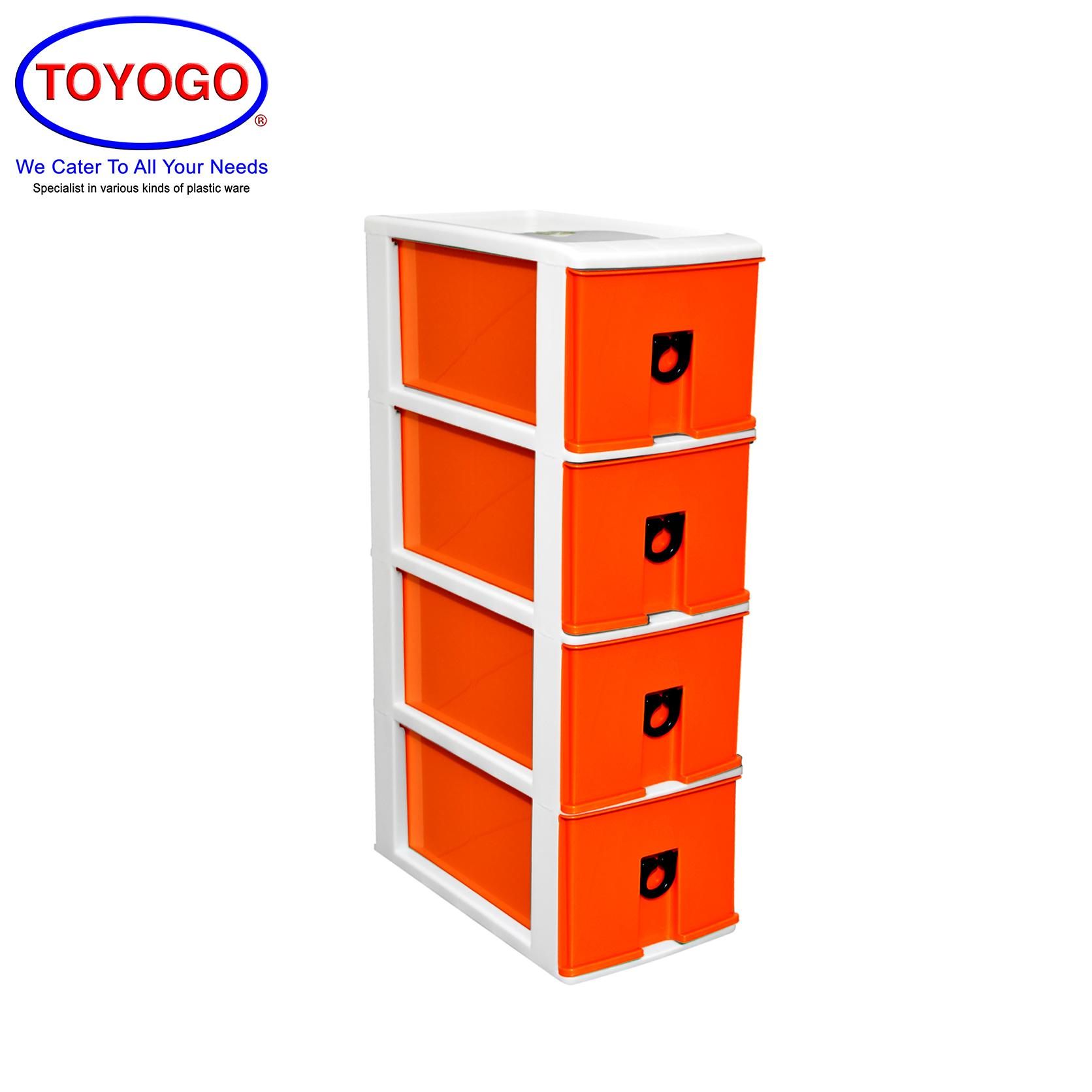 Toyogo Plastic CD Drawer (4 Tier) (302-4)