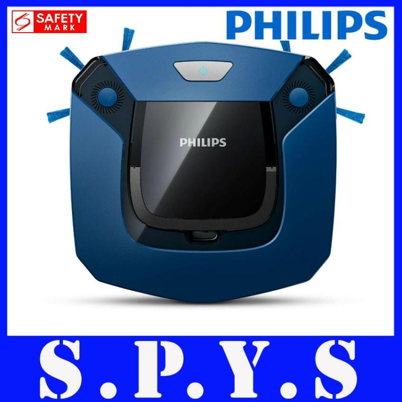 Philips FC8792 Robot Vacuum Cleaner. Ultra Slim 5.8cm. 2 Step Cleaning System. 24 Hours Advance Scheduling. Uses EPA12 Filter. Powerful Rechargeable Battery runs up to 105 mins. Safety Mark. 2 Years Warranty. Singapore