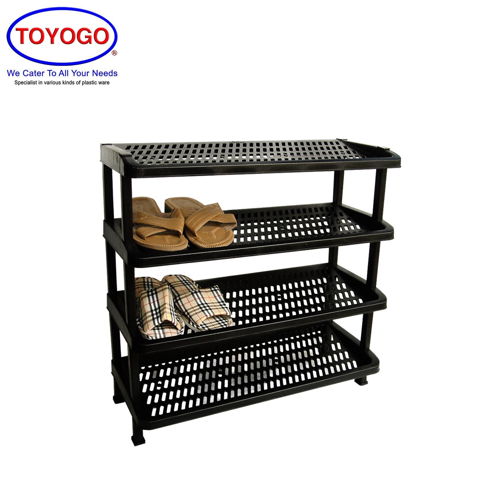 Toyogo KT Plastic Shoe Rack (4 Tier) (342-4)