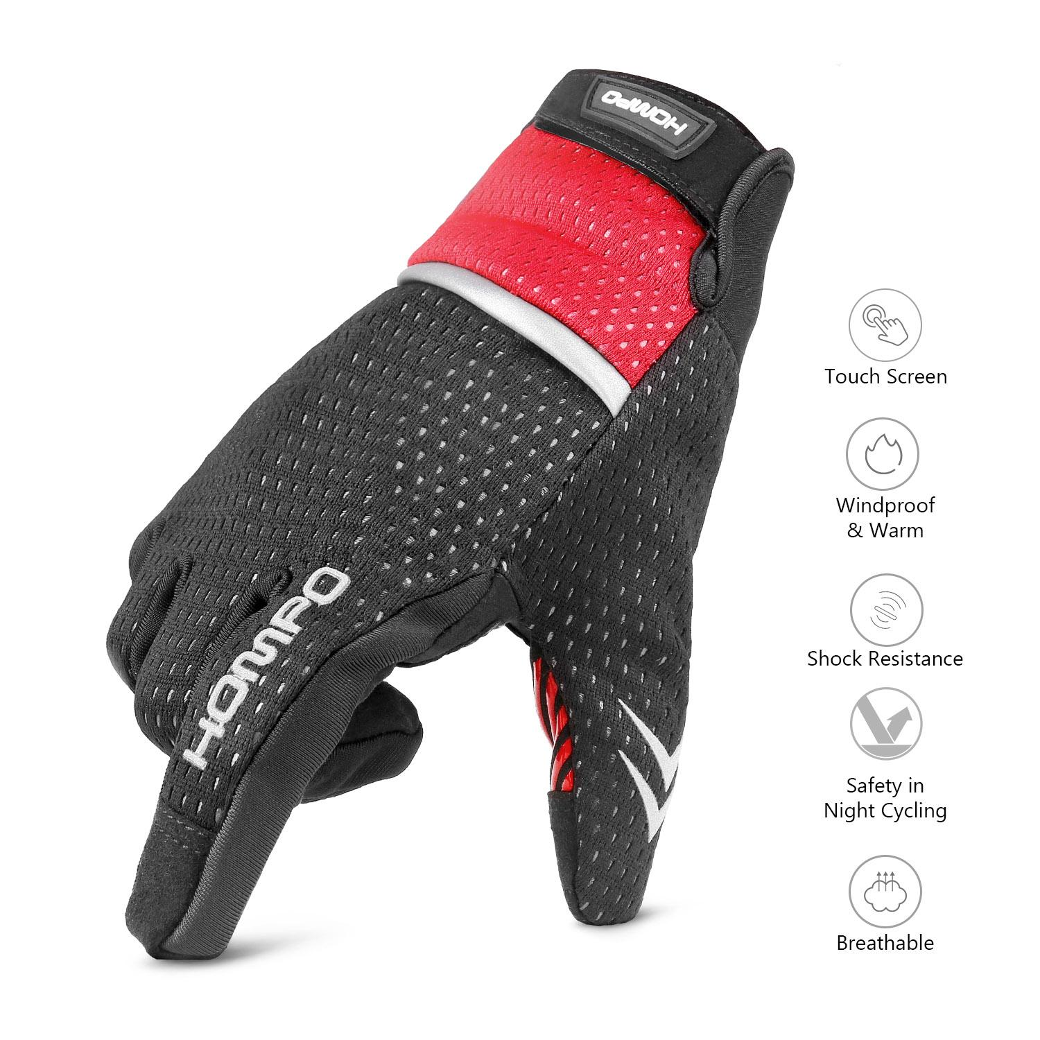 Hompo Cycling Bicycle Gloves Touch Screen Full Finger Gloves Mtb Bike Gloves Antiskid Silicone Gloves Road
