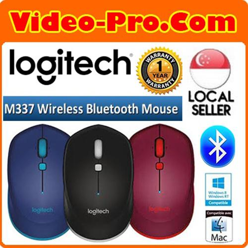Logitech M337 Bluetooth Mouse for Windows Mac Chrome OS and Android 1 Year Local Warranty