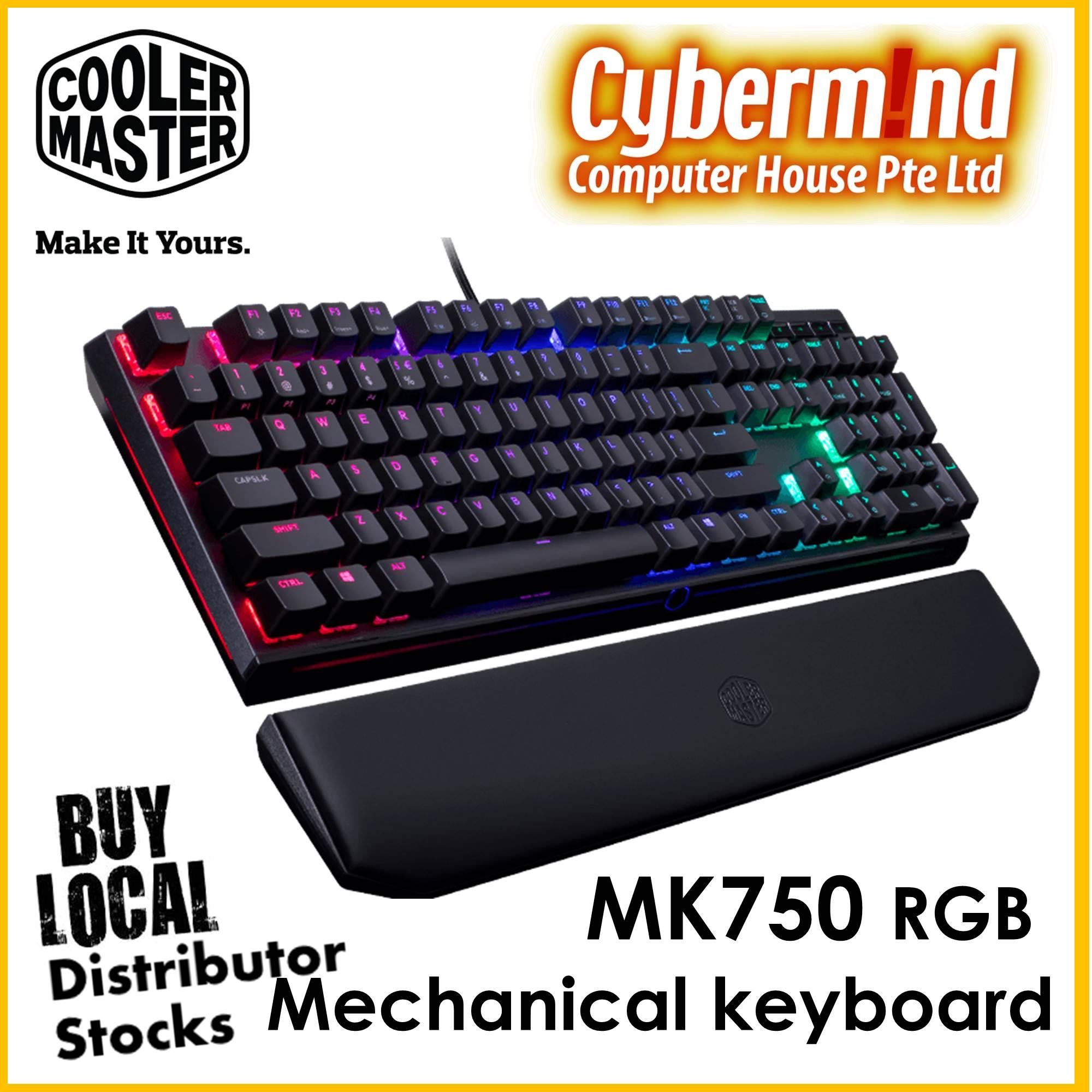 Buy Sell Cheapest Cherry Mx Best Quality Product Deals Singapore Corsair K66 Mechanical Red Black Color Coolermaster Masterkeys Mk750 Rgb Keyboard Switch Mk 750