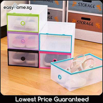Shoe Box C - Stackable Shoes Organizer Container Storage Rack