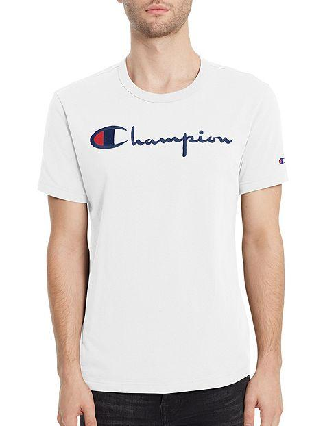 How To Get Champion Graphic Tee White With Black Wording