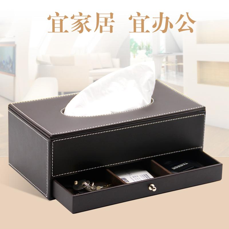 Creative Multi-functional Tissue Box Napkin Paper Extraction Box Tissue Box with Drawer Desktop Storage Box Water Clubhouse Hotel