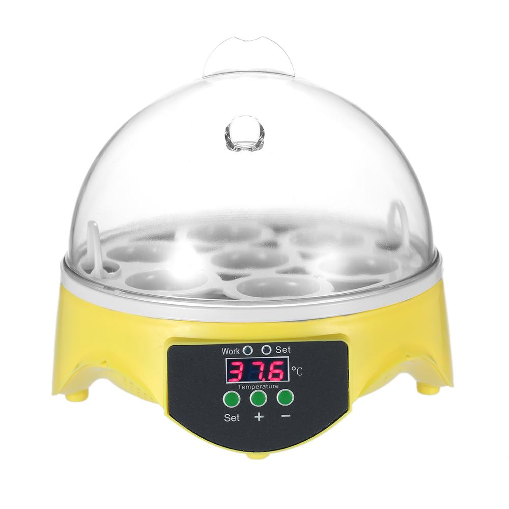 7 Eggs Mini Digital Egg Incubator Hatcher Transparent Eggs Hatching Machine Automatic Temperature Control For Chicken Duck Bird Eggs Ac220v - Intl By Tomnet.