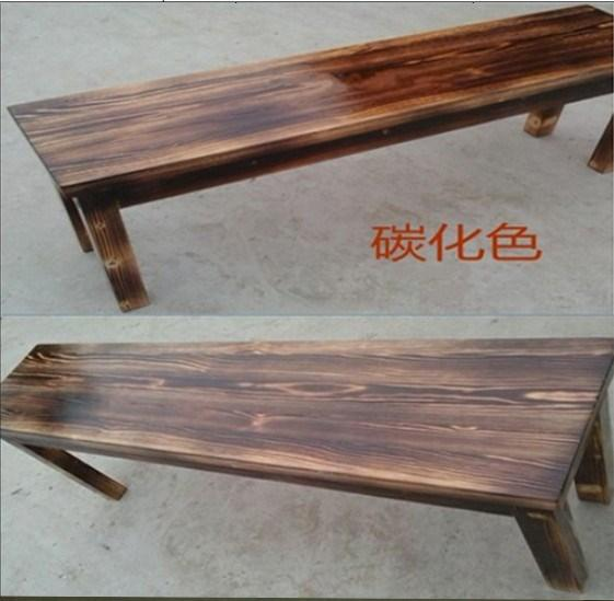 KAILONG Solid Wood Preservative Bench a Pew And Long Bench Wooden Bench Footstool Bathroom Stool Terrace/Patio Rest