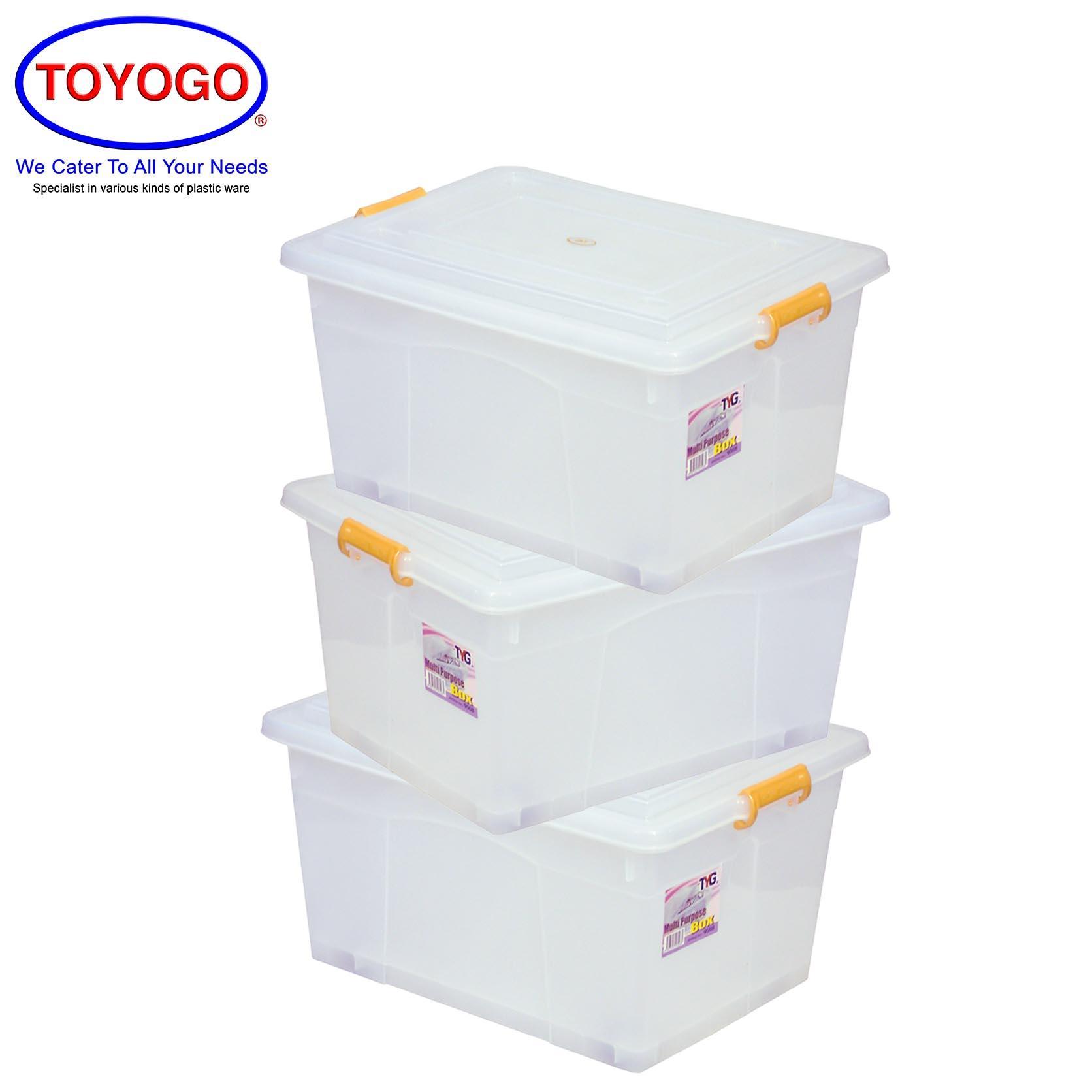 Toyogo Storage Box With Wheels (Bundle of 3) (9508)