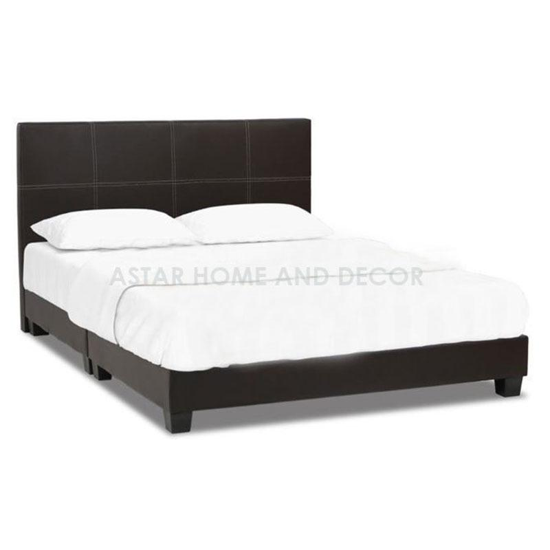 A-star Queen size Divan Bed frame (Brown) + Queen size HD Foam Mattress 8inch
