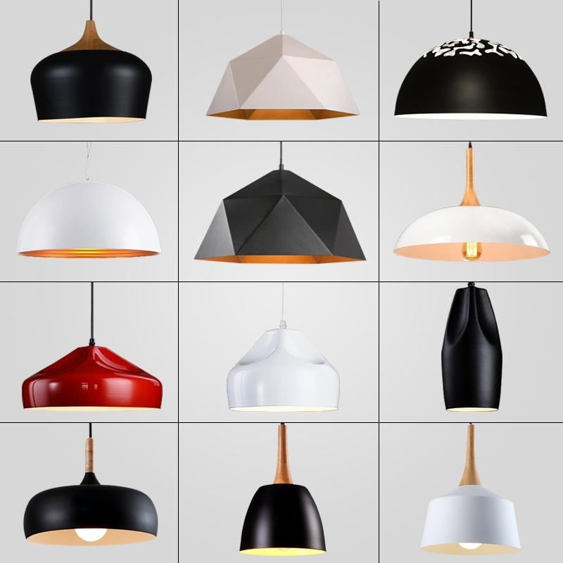 Sale Nordic Modern Minimalist Ceiling Light Cafe Restaurant Chandeliers Dining Room Creative Iron Single Head Pendent Light Paint Process Intl Oem Wholesaler