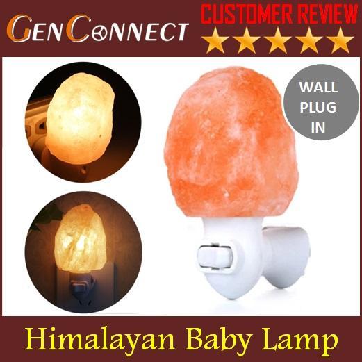 Baby Salt Lamp Wall Plug in Himalaya Salt Lamp Himalayan Pink Salt