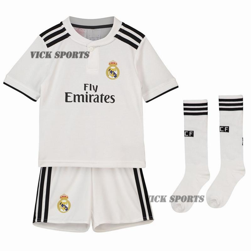 afbdad2d6 Vick Sports (FREE SOCKS)2019 New Season Top Quality Real MadridFC Home and  Away