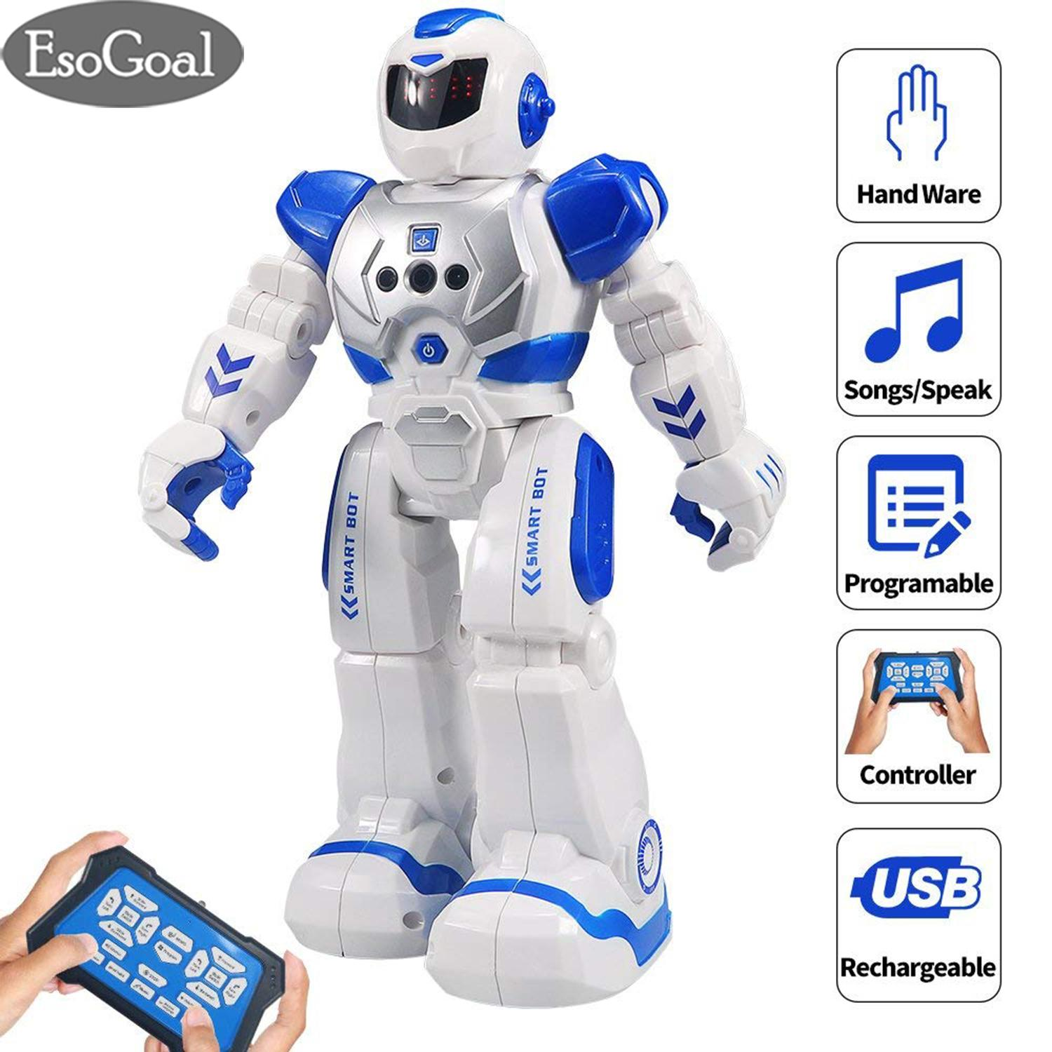 EsoGoal Robot Toys Alpha Telecontrol Intelligent Robot Remote Control RC Robot Speaking Robot Police Toys Gesture