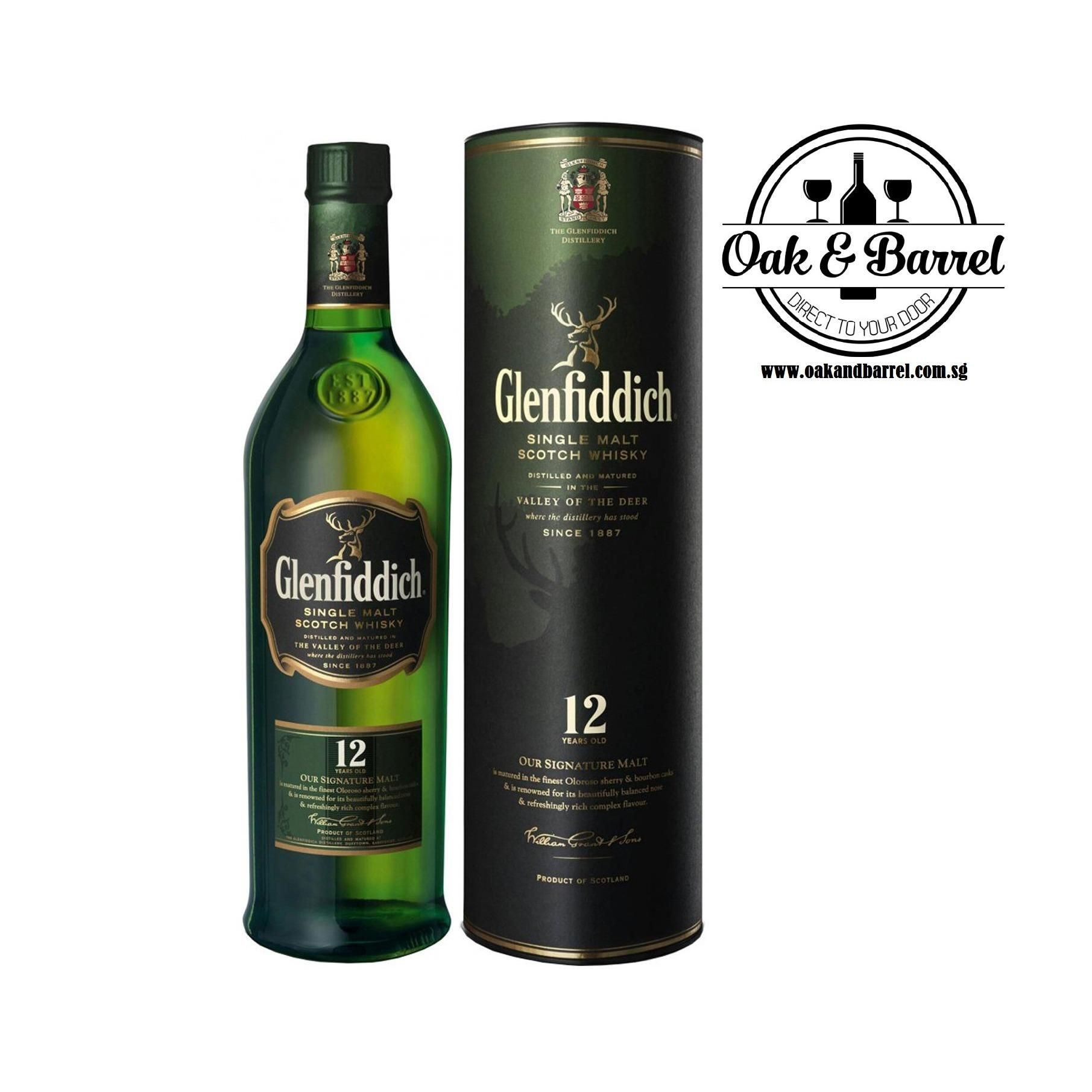 Glenfiddich 12 Year Old Whisky 700Ml Singapore