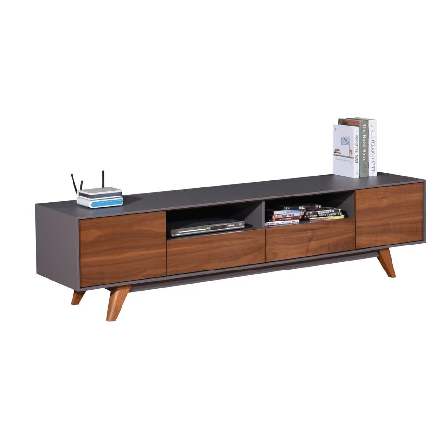 New Design 2018 - Tv Cabinet - Tv console - Walnut Dark Grey color - TC174