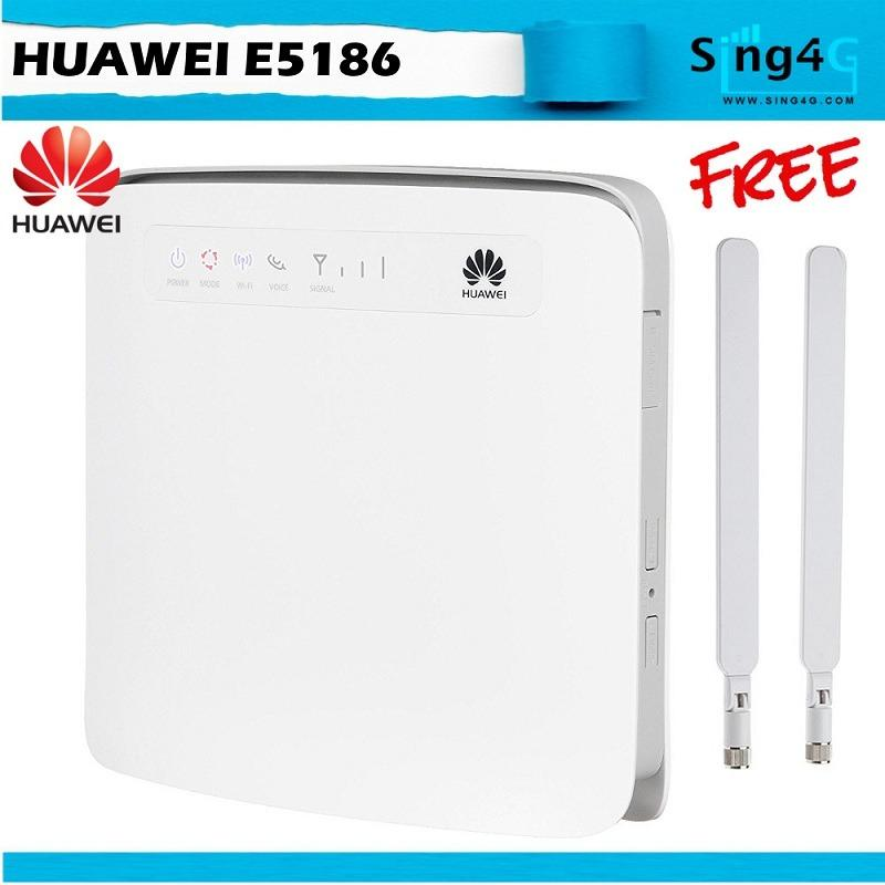Huawei E5186 4G 300Mbps Direct Sim Card Router Wifi 64 4 Lan On Singapore