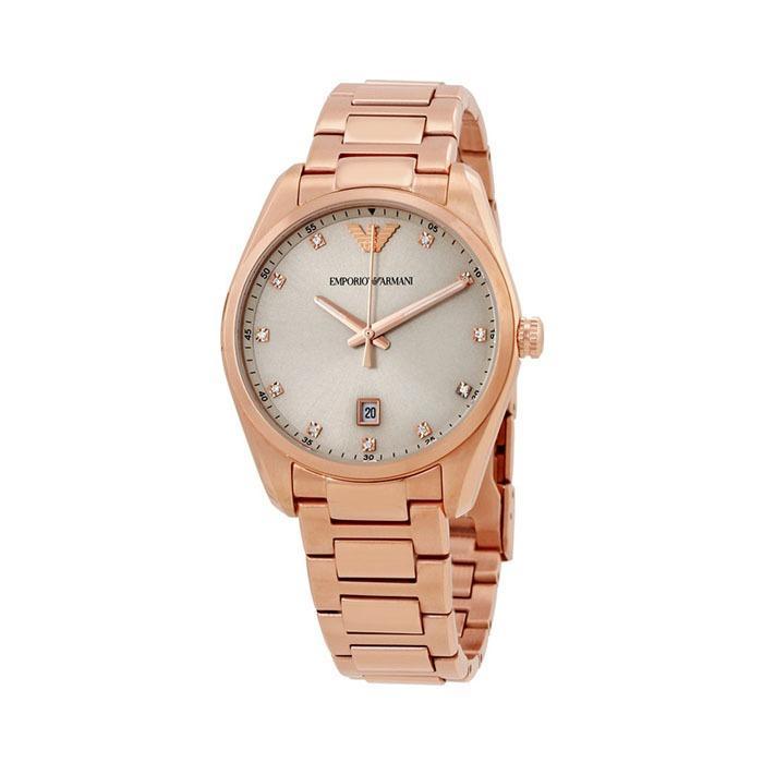 Price Emporio Armani Classic Silver Sunray Dial Ladies Watch Ar6065 Online Singapore