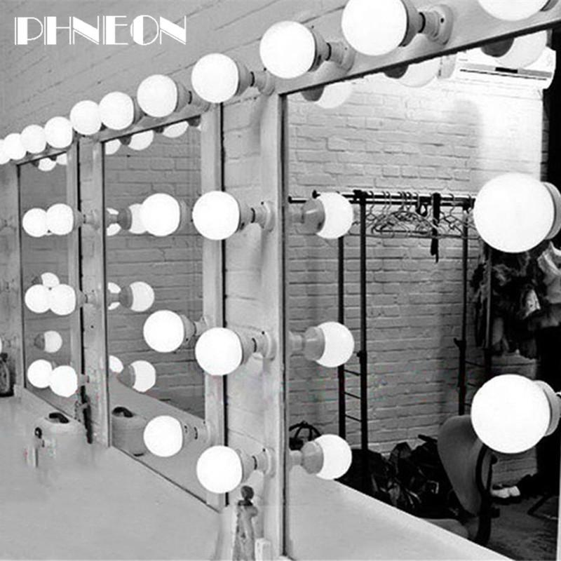 PHNEON 5/10/15/20pcs Modern Dressing Room Mirror Light Wall Cosmetic Mirror Lamp Led Bulbs Making Up Lighting Makeup Wall Lamps includes 3W Beauty Light Bulb
