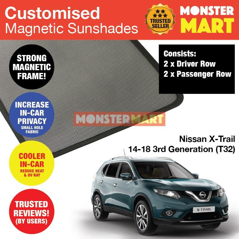 Purchase Nissan X Trail 2014 2018 3Rd Generation T32 Customised Car Accessories Window Magnetic Sunshades 4 Pieces Online