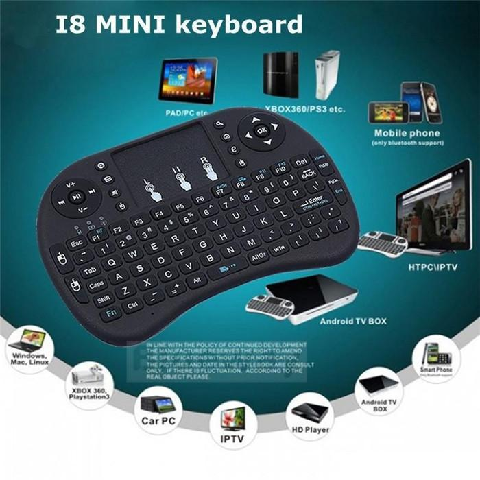 [SG Stock [Latest version] Keyboard Air Mouse English 2.4GHz Wireless Touchpad Handheld for Android PC TV BOX USD Computer