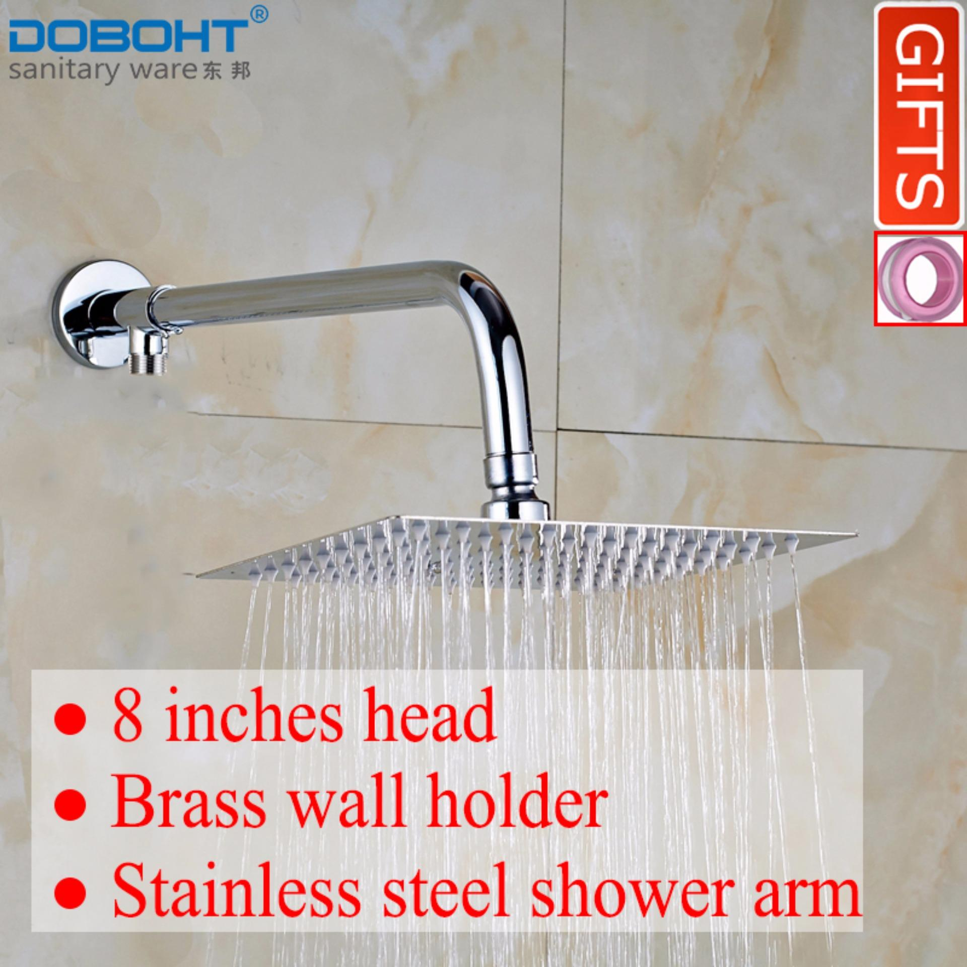 Doboht Bathroom Home Shower Set With 8 Inch Stainless Steel Shower Head And Shower Arms Chrome Intl Free Shipping