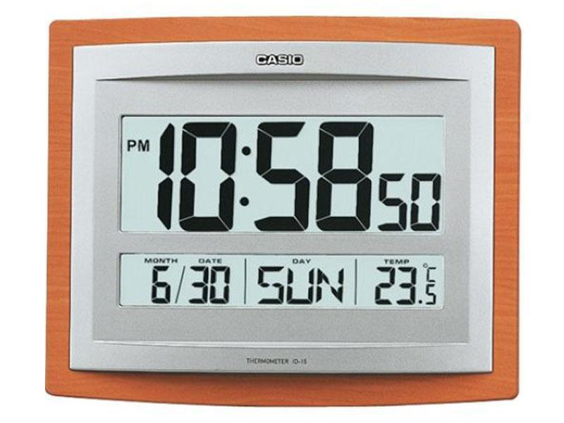 CASIO WALL & DESK TABLE CLOCK WITH THERMOMETER & CALENDER ID-15S-5D