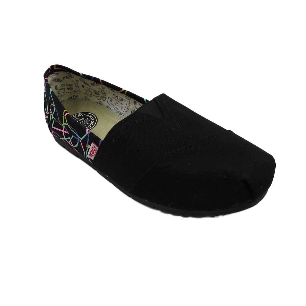 Sale Wakai Sen Men S Slip On Shoes Black Wakai Cheap