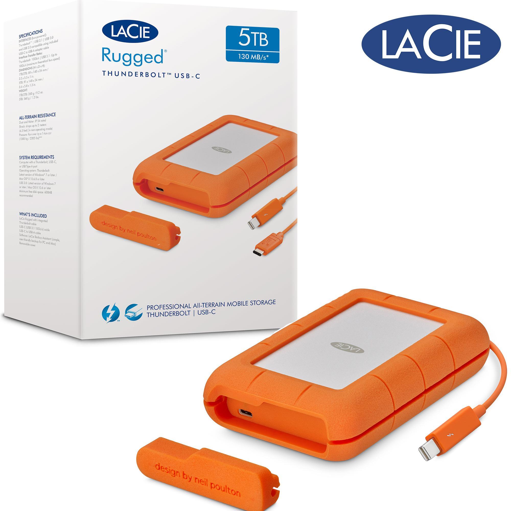 3600be1069 LaCie 5TB Rugged® Thunderbolt™ USB-C Portable Hard Disk Singapore