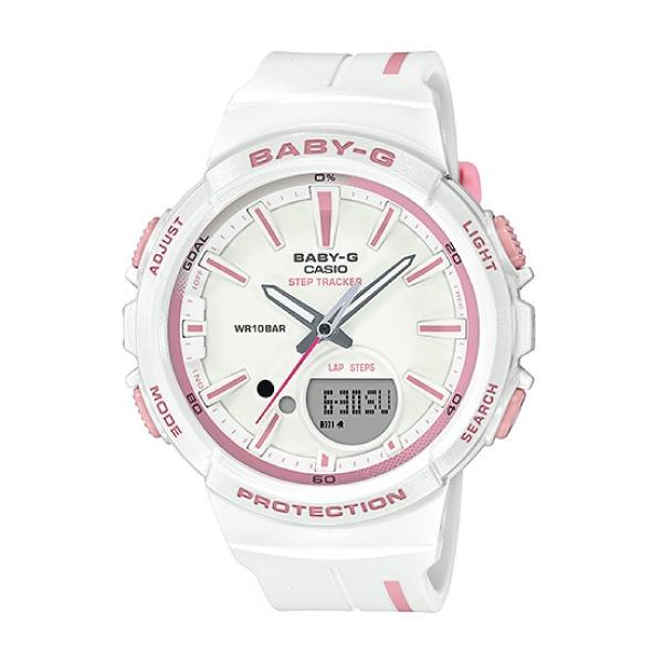 Discount Casio Baby G Punto It Design Bgs 100 Step Tracker For Running Series White Resin Band Watch Bgs100Rt 7A Bgs 100Rt 7A Casio Baby G