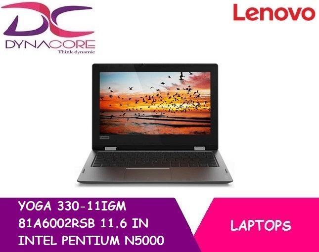 BRAND NEW LENOVO YOGA 330-11IGM 81A6002RSB 11.6 IN INTEL PENTIUM N5000 4GB 128GB EMMC WIN 10