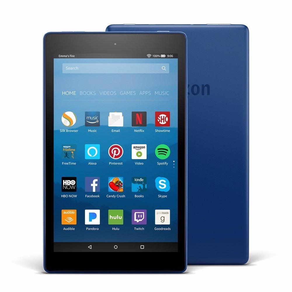 "Amazon Fire HD 8 Tablet with Alexa, 8"" HD Display, 16 GB,"