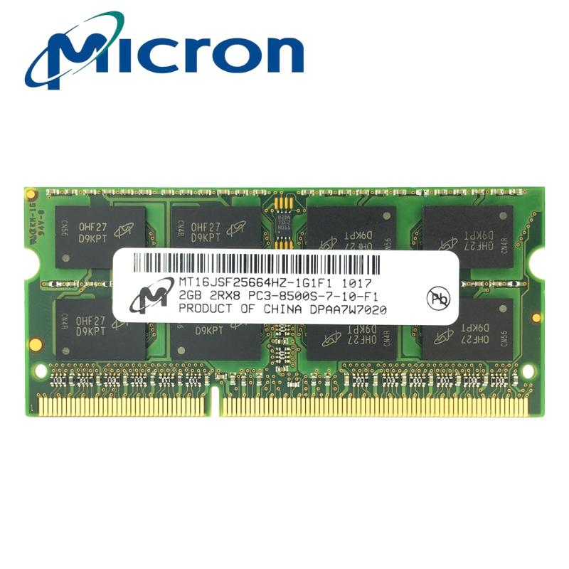 Best Reviews Of Micron Ddr3 2Gb 1066Mhz Pc3 8500S Sodimm For Notebook Laptop Memory Ram