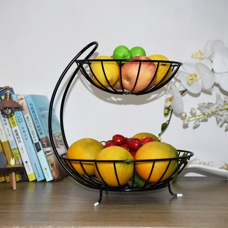 Aimero Multilayer Chinese Style Fruit Basket Luxury Creative Fashion Fruit Bowl Living Room Shop Minimalist Modern Storage Rack More