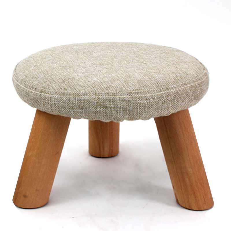 Stool Round Stool Solid Wood Fashion Creative Fabric Sofa Stool Chair Household Teapoy Table Stool Adult Low Stool Small Bench