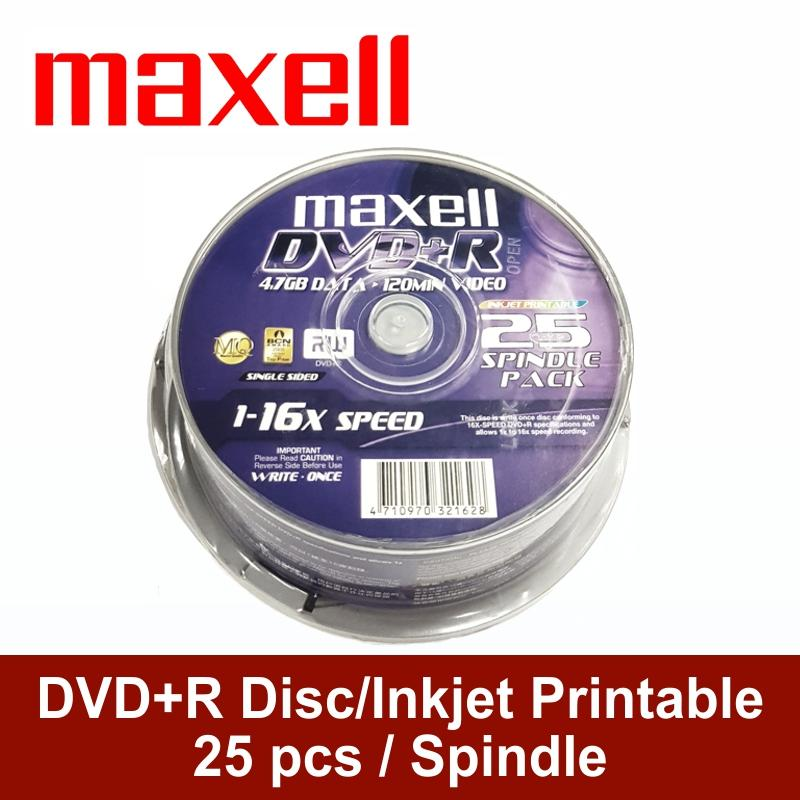 Maxell DVD+R 25 Discs in 1 Spindle