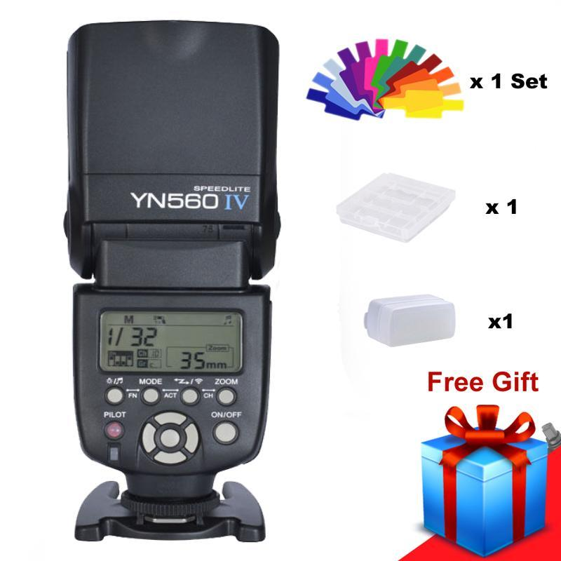 Yongnuo Yn560 Iv Yn560iv Universal Wirelss Master Slave Flash Speedlite For Dslr Camera Nikon Caon + Free Diffuser Filter By Misuta.