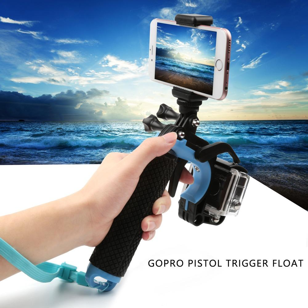 Deals For Shoot Floating Hand Grip Bobber Handle Pole Monopod Pistol Trigger Set Mount For Gopro Sjcam Xiaomi Yi Action Camera Accessories