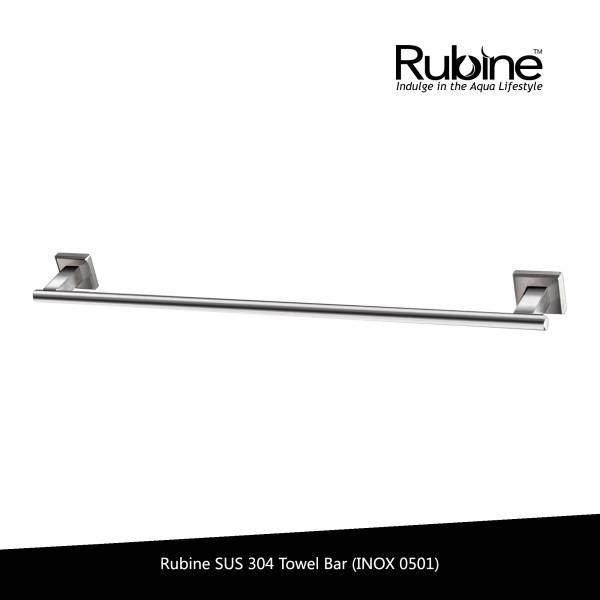 Buy Rubine Ss304 Stainless Steel Single Towel Bar Inox 0501 Rubine