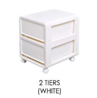 JIJI Monogram Storage Drawers - Plastic Drawer / Bedroom Furniture / Space Savers (SG)