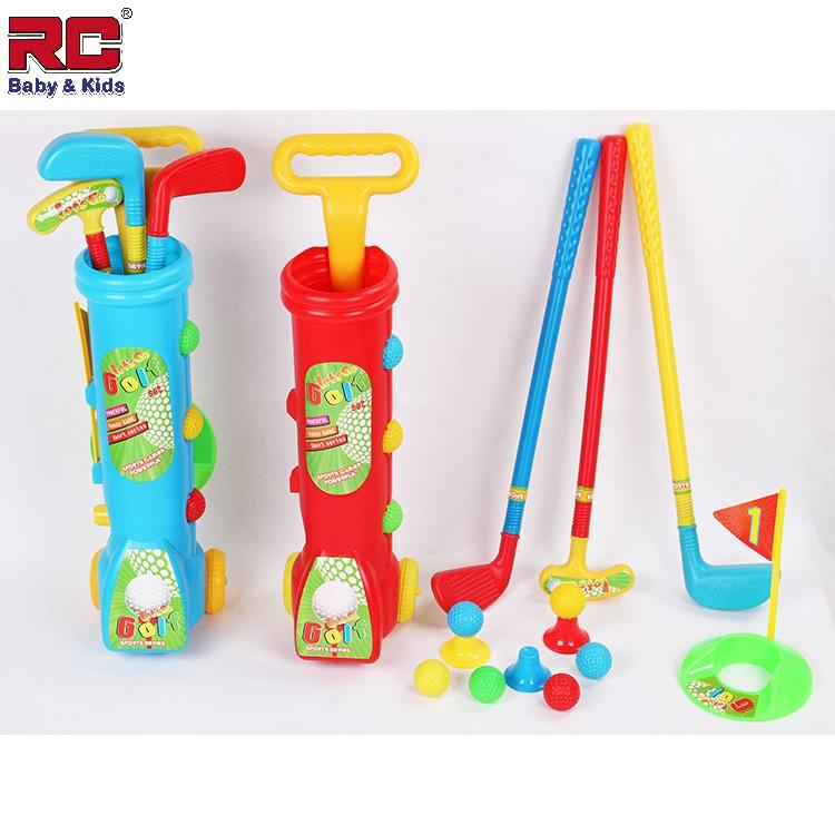 Rc-Baby&kids Deluxe Littlefun Kids Golfer Golf Cart Toy Set With 3 Kinds Of Clubs 2 Holes 3 Balls Hand-Held Tensile Handle Easy Storage Golf Bag Perfect Outdoor Play Golfer For Children By Rc-Baby&kids.