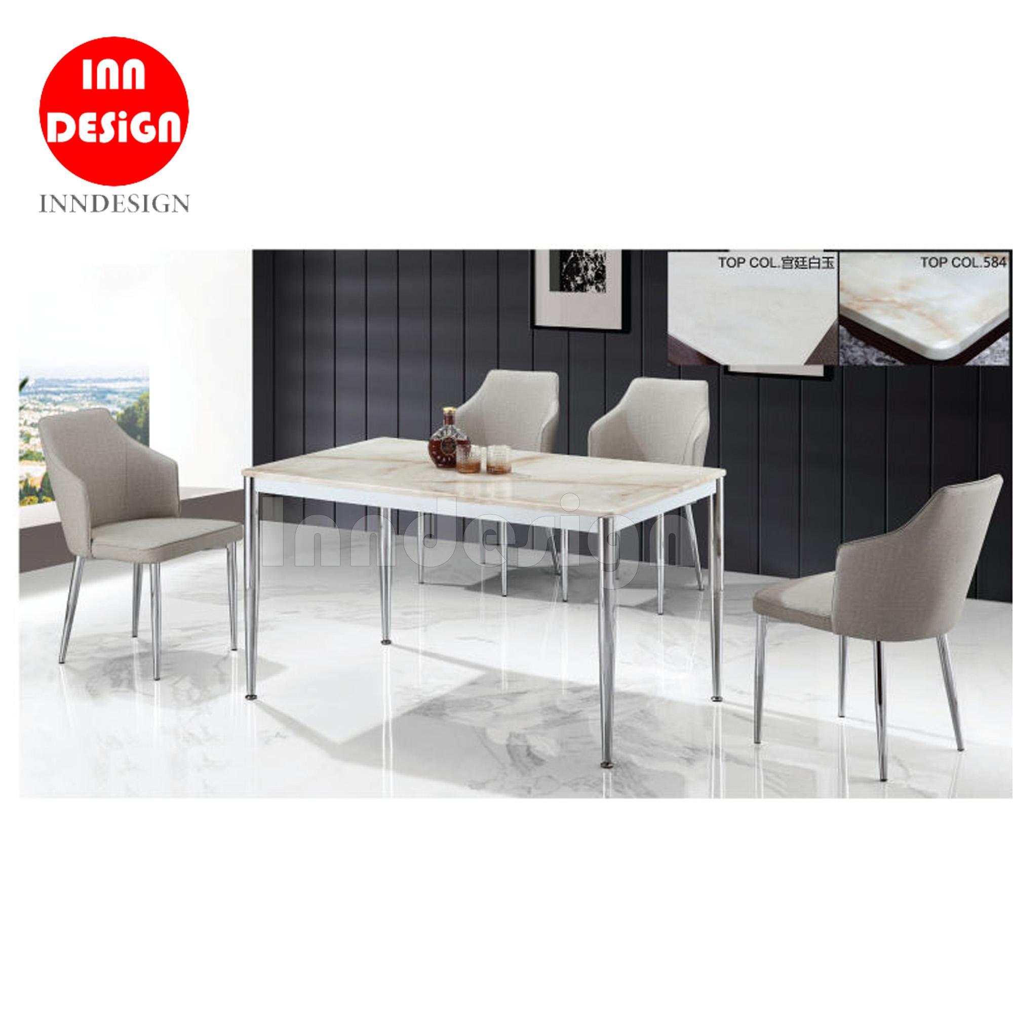 Alba 1+4 Marble Table Dining Set