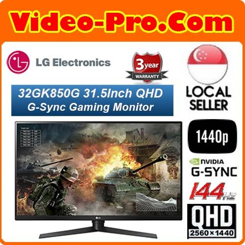 LG 32GK850G 31 5Inch QHD 1440p 5ms 144Hz NVIDIA G-Sync Gaming Monitor  Singapore