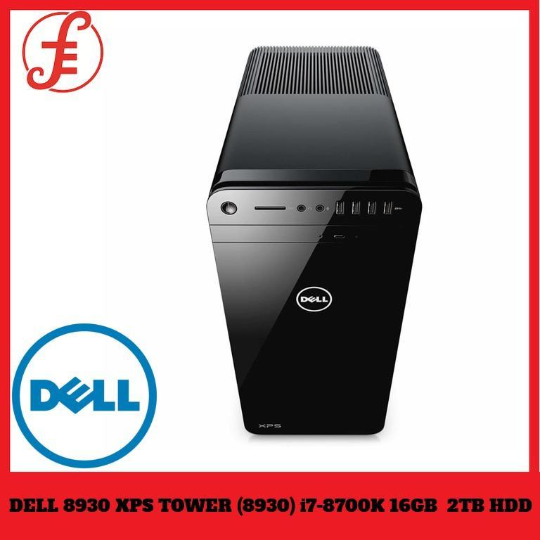Dell 8930 Xps Tower (8930) I7-8700k 16gb Memory 2tb Hard Drive Nvidia Geforce Gtx 1080,(8gb Ddr5) Blu Ray Drivewin 10 Pro Black By Fepl.