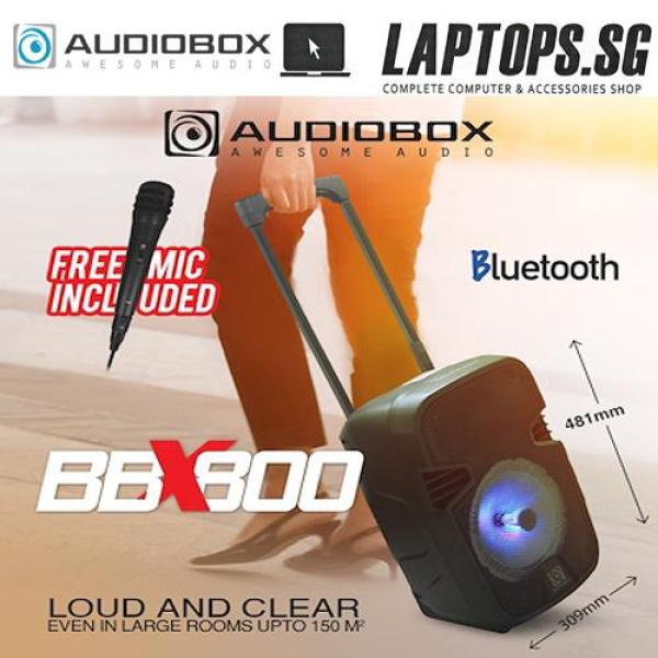 AUDIOBOX New BBX 800 BOOMBOX Portable Trolley Speaker System / Bluetooth Wireless Audio Streaming Free Mic Singapore