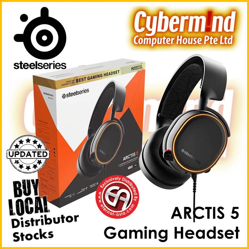 (UPDATED 2019 Edition) Steelseries Arctis 5 7.1 Surround RGB Gaming Headset (BLACK) PN:61504 (Local Distributor Stocks)