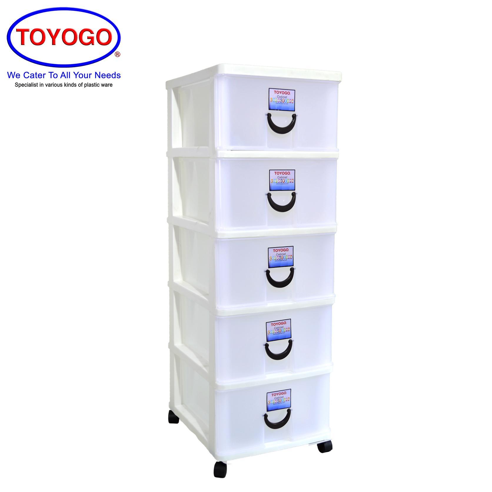 Toyogo [5 Tier] Plastic Storage Cabinet / Drawer With Wheels [803-5]