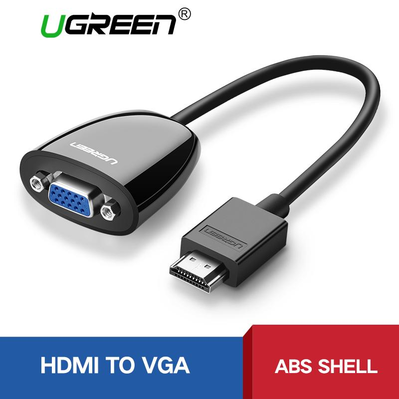 UGREEN HDMI to VGA Adapter Supprot 1920*1080P Compatible Laptop Projector - Intl