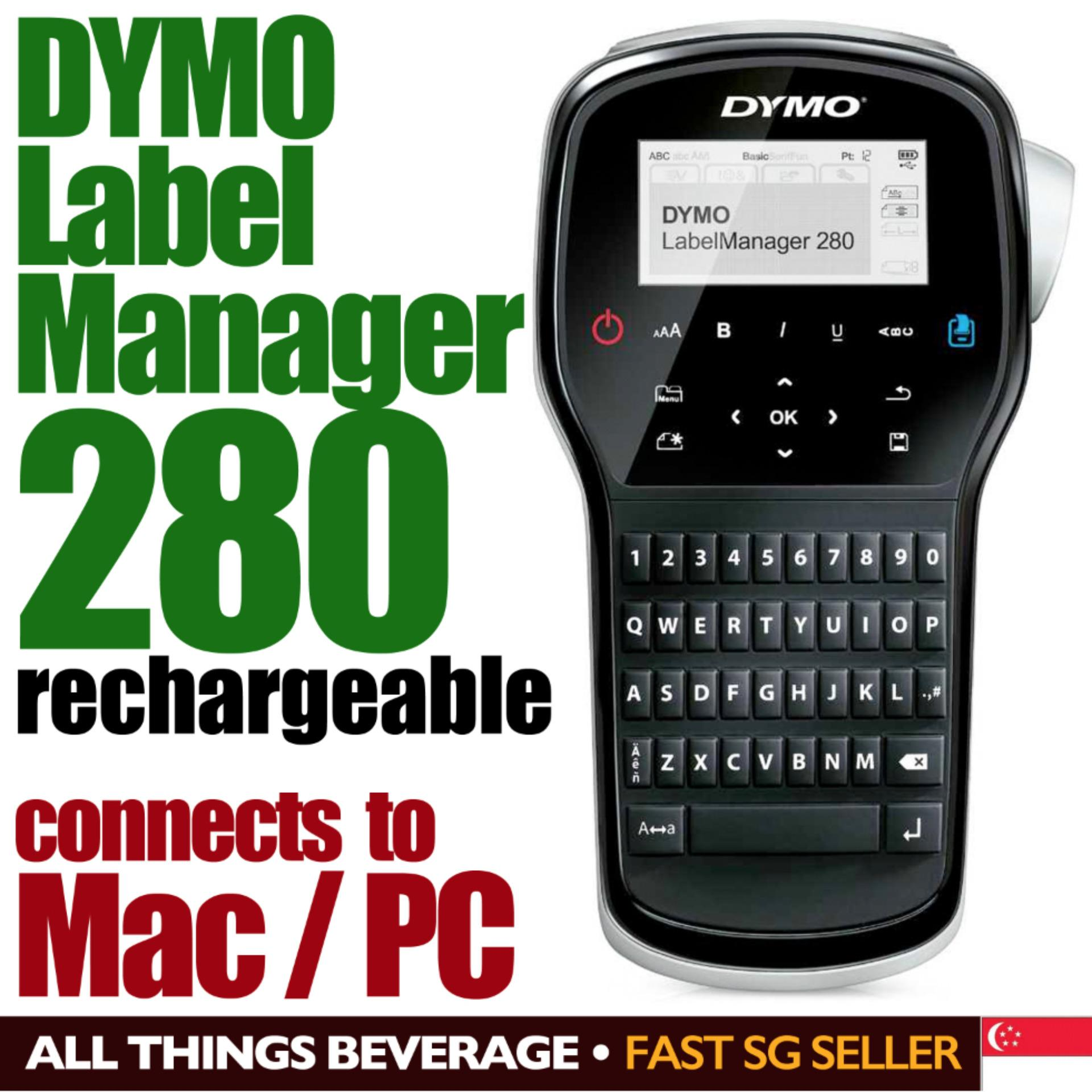 Dymo buy dymo at best price in singapore lazada dymo labelmanager 280 hand held label printer rechargeable connect to mac pc reheart Image collections
